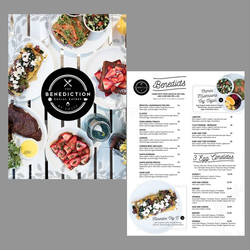 Dinner design with the title 'Breakfast Menu Design '