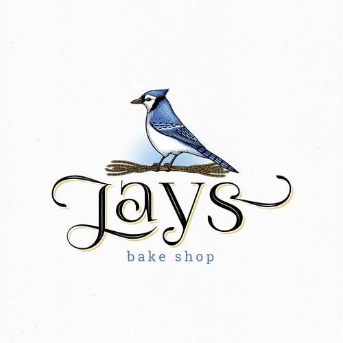 Hand-painted logo with the title 'Logo for a bakery'