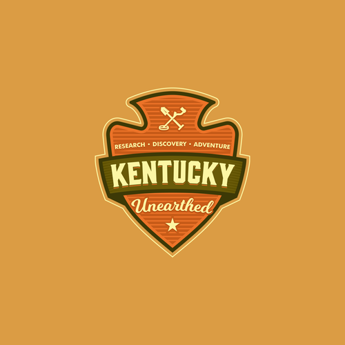 Spade logo with the title 'Logo for Kentucky Unearthed'