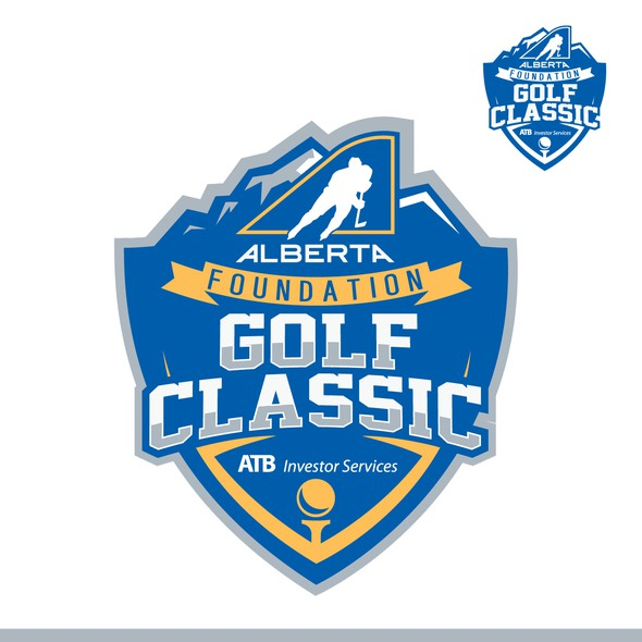 Tournament logo with the title 'bold golf classic logo'