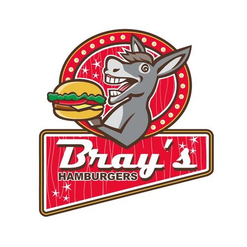 Hamburger logo with the title 'Bray's Hamburgers'