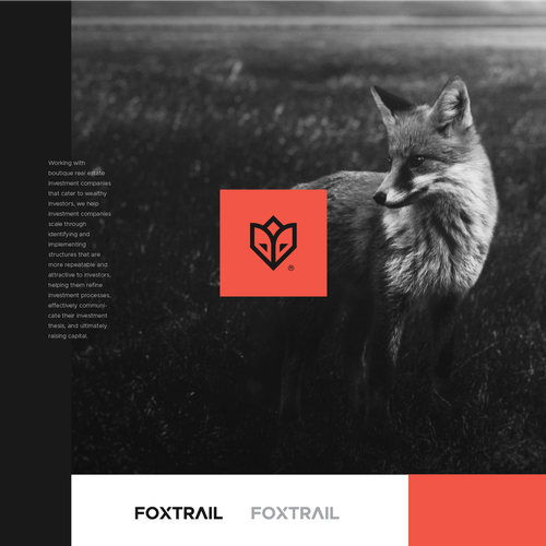 Sleek logo with the title 'Foxtrail'