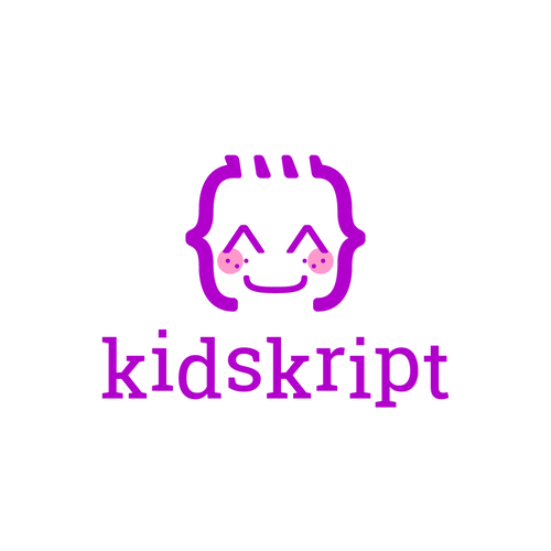 Playful logo with the title 'kidskript'