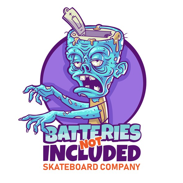 Skateboard logo with the title 'Hand drawn look vector Zombie Illustration for Skateboard Company'