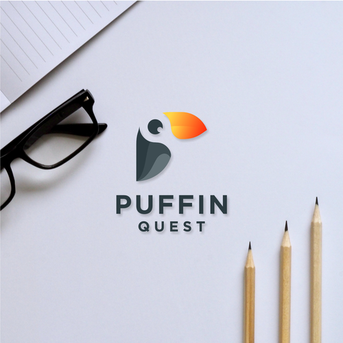 Puffin logo with the title 'Puffin Quest'