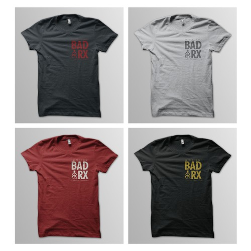 CrossFit t-shirt with the title 'WINNER : BADRX TEES CONTEST'