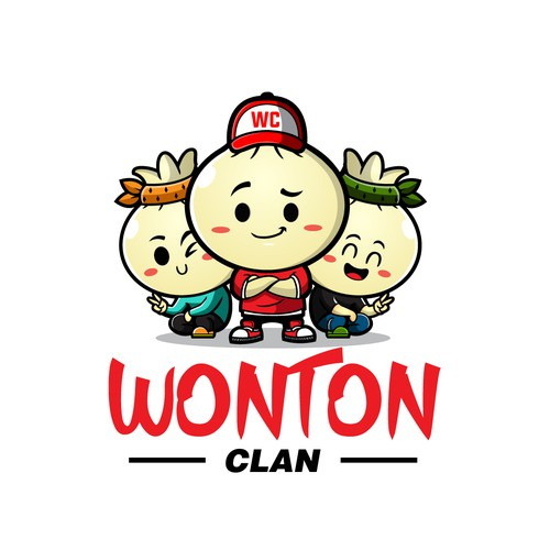 Logo with the title 'Wonton Clan'