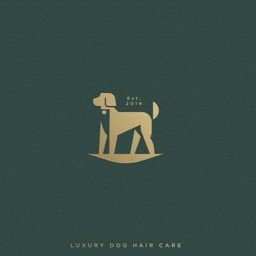 Greyhound logo with the title 'Dog logo'