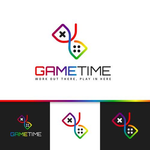 Joystick design with the title 'GameTime Concept Logo'
