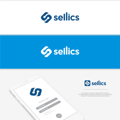Data center logo with the title 'SELLICS - LOGO'