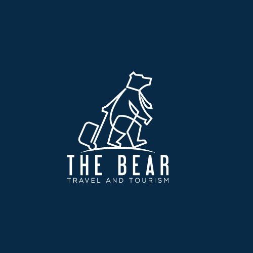 Tourism brand with the title 'Minimalist Logo for a Travel Agency'