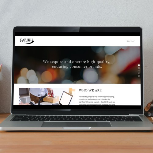 Investment website with the title 'Cap Hill Brands'