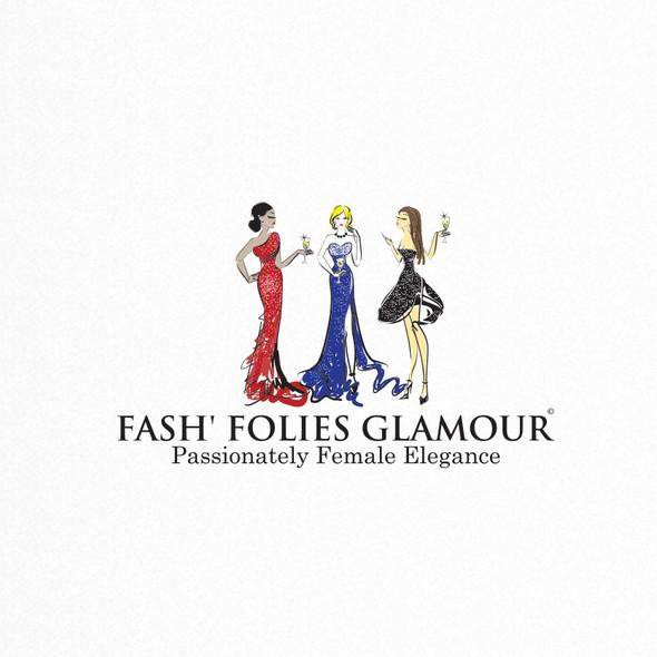 Lady logo with the title 'Fashion Glamour Logo'
