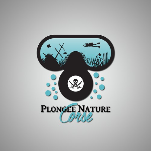 Maritime logo with the title 'Logo club de plongée'