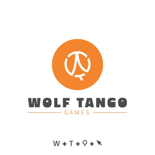 Cursor design with the title 'Logo-line (Wolf Tango Game Developer)'