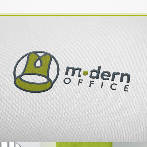 Desk logo with the title 'Modern Office Logo'