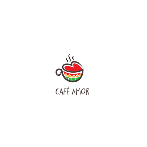 Whimsical logo with the title 'Logo for a cafe'