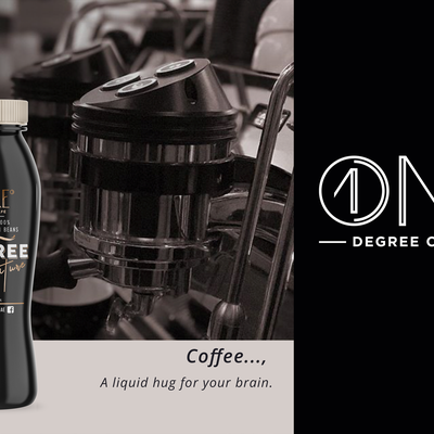 creative and attractive label for coffee shot