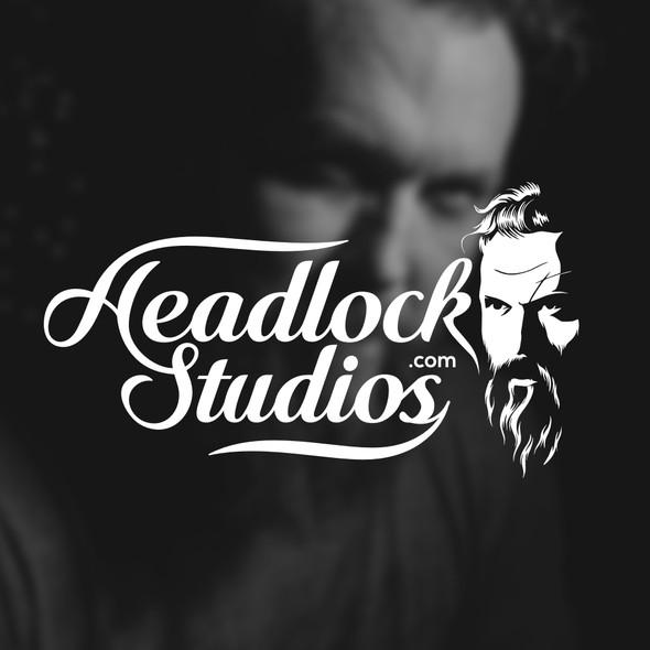 Haircut logo with the title 'HeadLock STUDIOS'