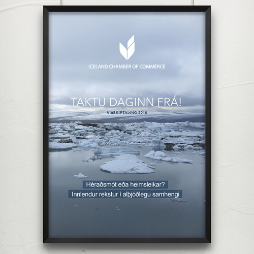 Iceland design with the title 'Iceland Poster Design'