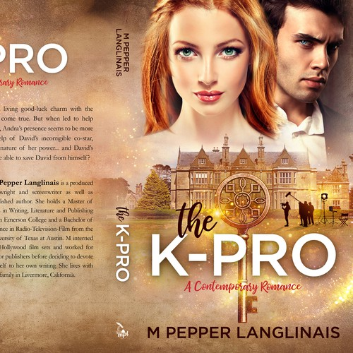 Fairy tale design with the title 'The K-PRO, A Contemporary Romance'