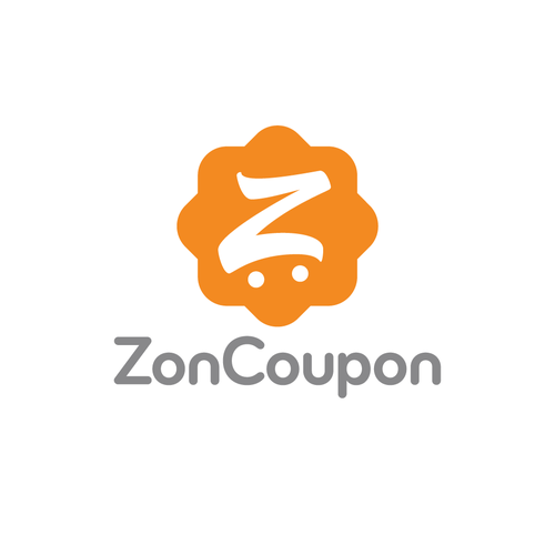 Shopping cart logo with the title 'ZenCoupon cart icon'
