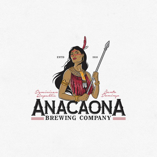Americana logo with the title 'Craft beer company logo'