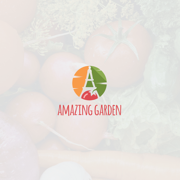 Tomato logo with the title 'Flat and simple, yet amazing logo'