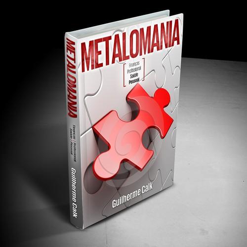 Puzzle design with the title 'Metalomania Book Cover'