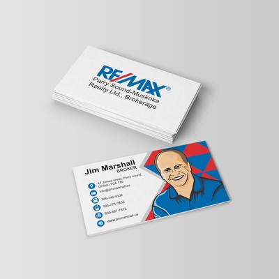 Illustrative picture style business card