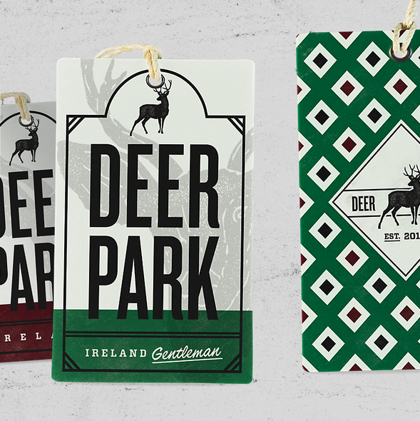 Fashion label with the title 'Deer Park'