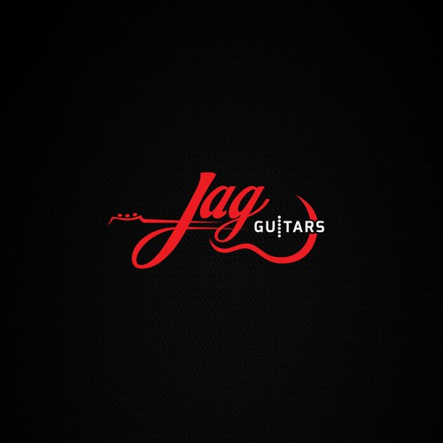 Acoustic logo with the title 'Logo concept for Jag Guitars.'