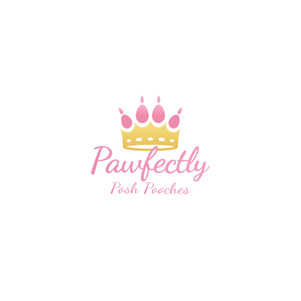 Paw design with the title 'Pawfectly Posh Pooches | Logo / Hosted Website'