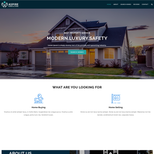 HTML website with the title 'Modern Professional Design For Real Estate Brokerage'