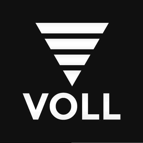 Small logo with the title 'Voll'