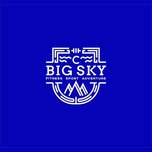 Heraldic logo with the title 'BIG SKY'