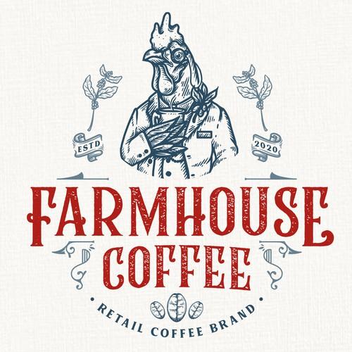 Farmhouse logo with the title 'Farmhouse Coffee'