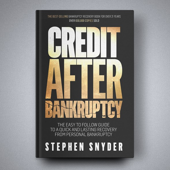 Financial book cover with the title 'Book cover for Credit After Bankruptcy'