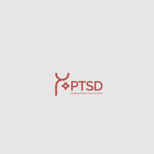Mental health design with the title 'Bold logo for organization who improve the quality of life for individuals battling depression, anxiety, stress and/or PTSD.'