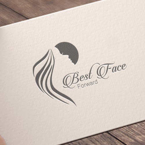 Face design with the title 'Best Face Forward Logo Design'