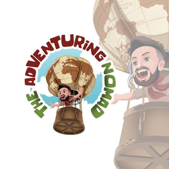 Caricature design with the title 'Bold & Fun Logo'