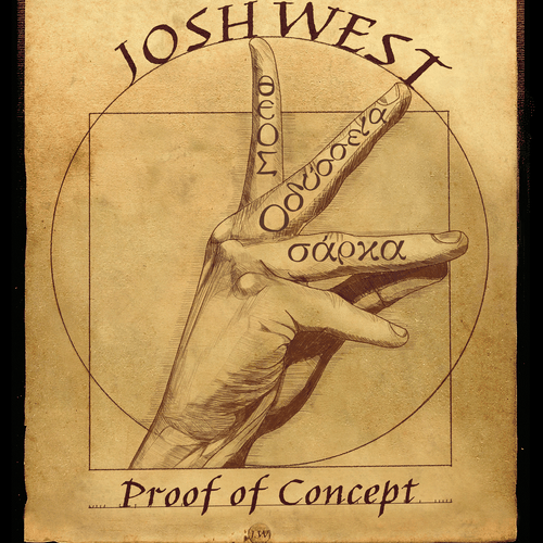 Singer illustration with the title 'Cover Album Art for Josh West'