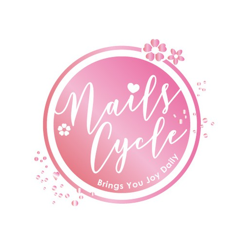 Nail logo with the title 'Beauty logo'
