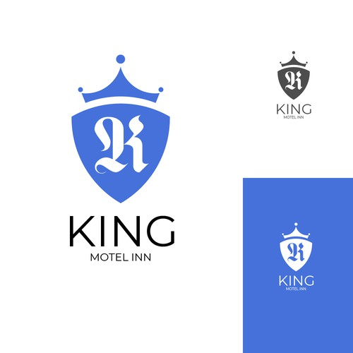Motel logo with the title 'KIng motel inn'