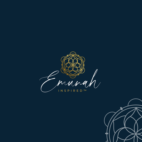 Gold and green logo with the title 'Emunah Inspired'