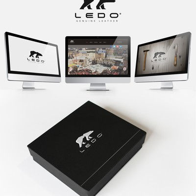Create a Brand Identity for a premium leather accessory manufacturer
