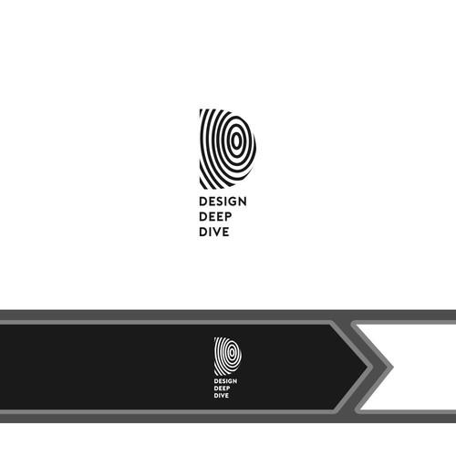 Deep logo with the title 'logo concept for Design Deep Dive'