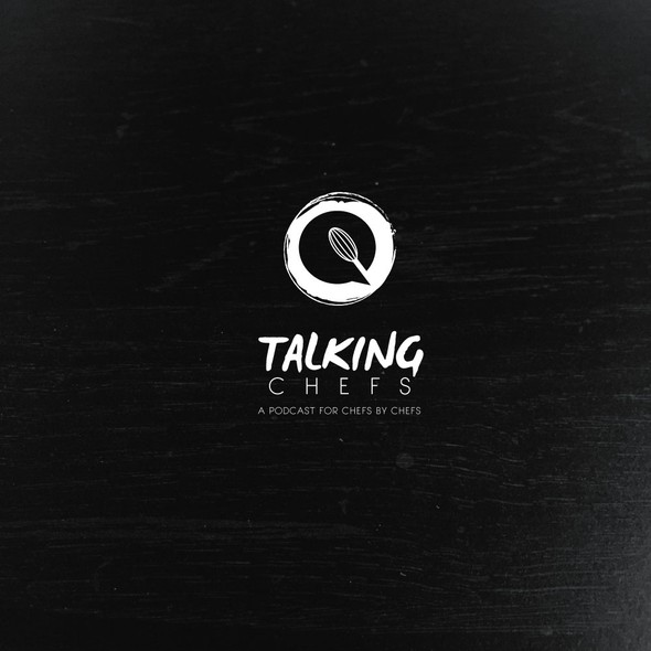 Talking design with the title 'Iconic logo for food podcast '