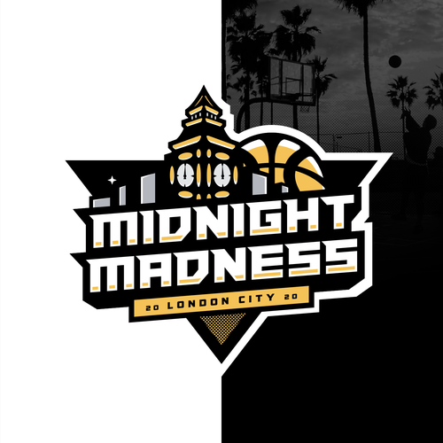 Basket logo with the title 'Midnight Madness '