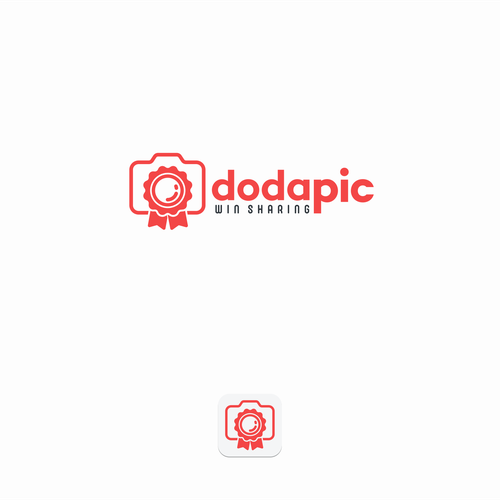 Picture design with the title 'Dodapic app needs a LOGO!!!'
